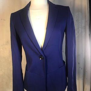 escada blazer royal blue jacket coat virgin wool
